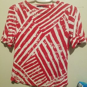 **2for$20**Peck&Peck red&white top